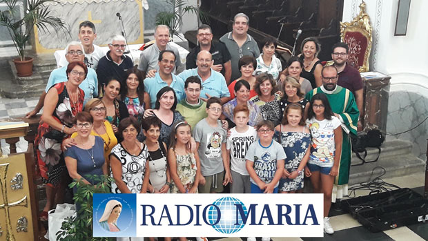 Il video e le foto della diretta su Radio Maria