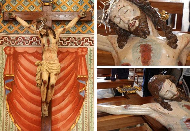 Sul Crocifisso della chiesa del convento in Gratteri