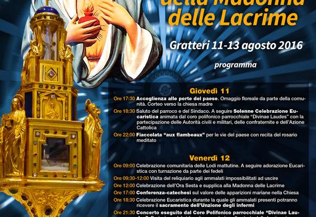 Visita del reliquiario della Madonna delle Lacrime – il programma